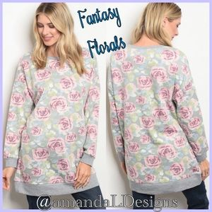 NWT 💟 JUST IN! 💟 PAINTED ROSES TUNIC W/ POCKETS